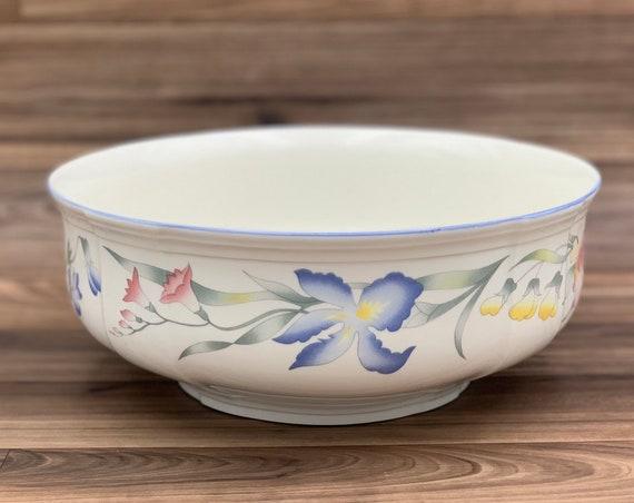 Vintage Large Serving Bowl Floral Villeroy and Boch Riviera Porcelain Vegetable Bowl Gift for Her