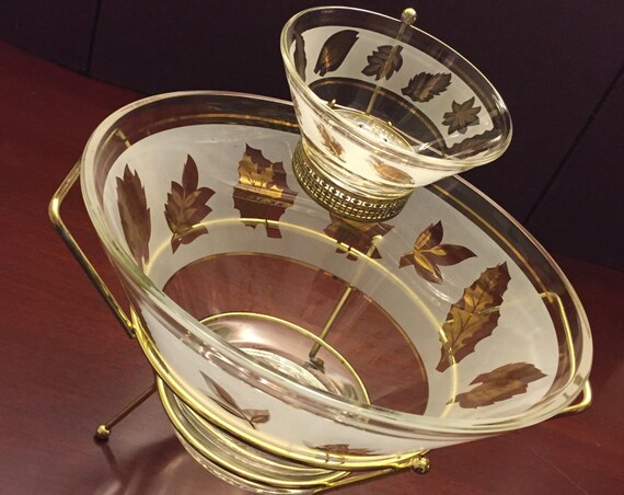 Mid Century Modern Starlyte Chip Dip serving bowl set, Hollywood Regency, Collectible serving dishes, Madmen, party ware, Foodie Gift, gift