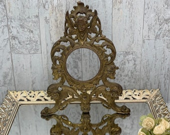 Antiques Picture Frames Antique Gilded Metal Cherub Picture Frame