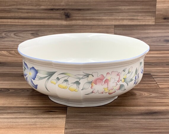 Vintage Serving Bowl Floral Villeroy and Boch Riviera Porcelain Vegetable Bowl Gift for Her