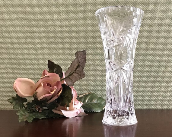 Vintage Lenox Fine Crystal Bud vase, Crystal star vase, Crystal flower vase, Lenox Vase, small flower vase, gift for her, collectible vase