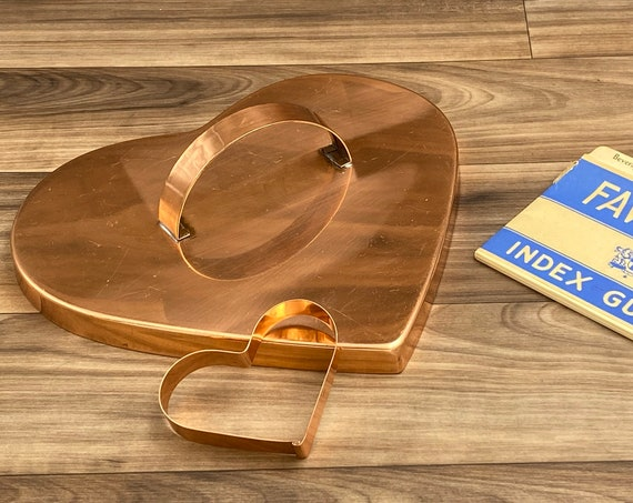 Large heart shaped Copper Cookie Cutters, Cookie Cutter set, Cookie crafts, Copper Country Kitchen, Rustic Farmhouse home decor