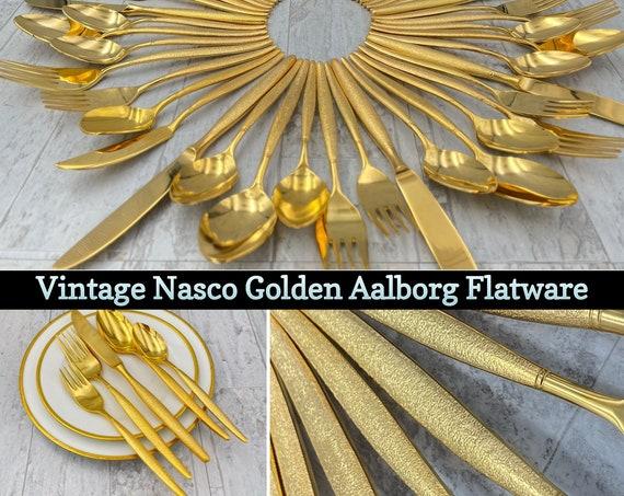 Vintage Stainless Flatware set, Nasco Aalborg Silverware, service for 8