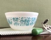 Vintage Pyrex Mixing Bowl Amish Butterprint Pyrex, Small 402 Pyrex Bowl, turquoise Pyrex 1.5 quart mixing bowl, gift for her