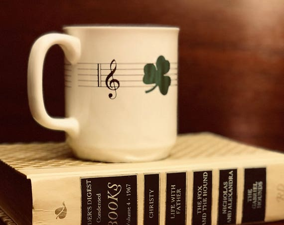 Vintage St Patricks Day Mug by MJB Coffee St Paddys Day collectible mug Irish Gift