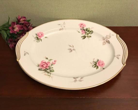 Vintage Rose Platter, Noritake Rosa Large oval platter