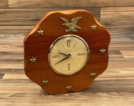 Vintage American Maid Wall Clock, Americana Style collectible Rustic Home Decor, Office Wall art, Gift for Him