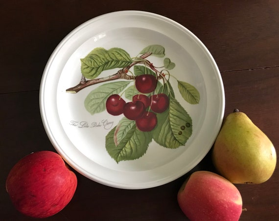 PORTMEIRION Collectors Display plate Cherry, Rustic Farmhouse Decor