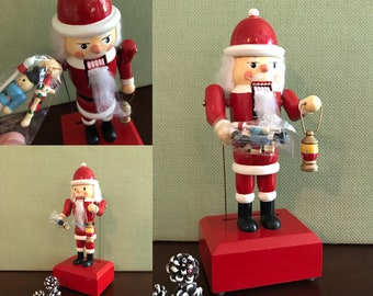vintage musical santa claus nutcracker with movement christmas painted wooden nutcracker decoration we wish you a merry christmas music