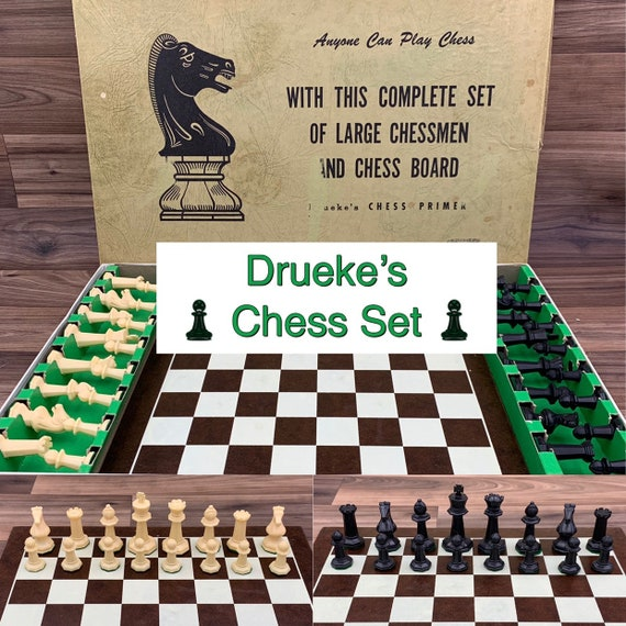 Chess Set Vintage Drueke Collectors Chess Primer set