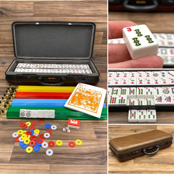 Vintage Mahjong Game, Chinese Game of Four Winds, Complete game, Mah-Jongg, Gift for Him, Tile Game, Collectible