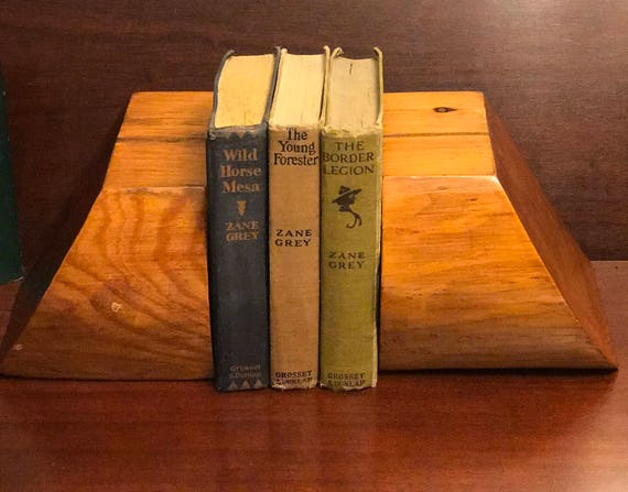 Rustic Wooden Bookends, Handmade Log solid wood Bookends, Rustic Country Cabin, Rustic Lodge, man cave, office, gift for Him,