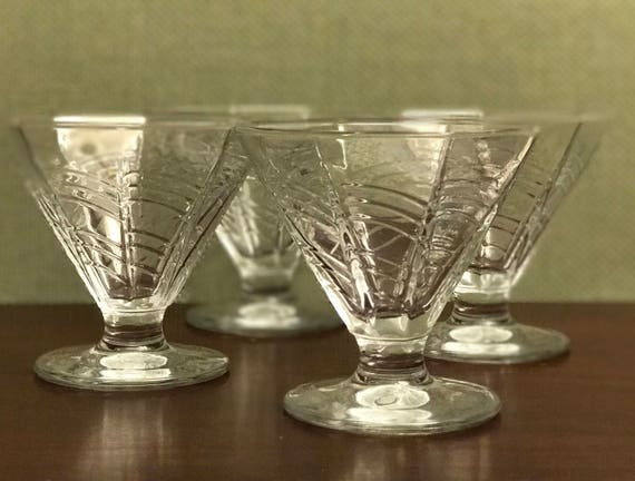 Vintage Dansk Parfait Glasses, dessert Ice Cream glasses