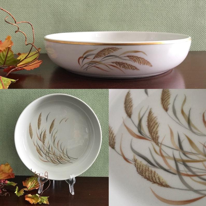 Vintage Round Serving Bowl Baker Dish Royal Jackson Angelus image 0