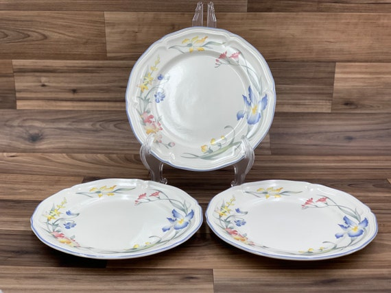Vintage Bread and Butter Plates Villeroy and Boch Riviera, set of 3