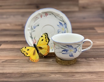 Vintage Tea cup floral Villeroy and Boch Riviera Porcelain Teacup, Tea Party, Gift for Her