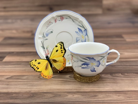 Vintage Tea cup floral Villeroy and Boch Riviera Porcelain Teacup, Tea Party, Gift for Her