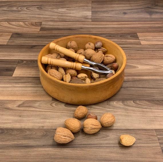 Vintage Nut bowl and nut cracker set, Hostess Gift, wood nut serving set, gift for foodie