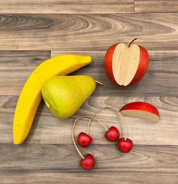 Painted Wood Fruit, Rustic home decor, Farmhouse Fall decorations, Schoolhouse classroom