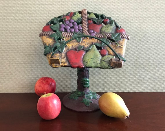Cast iron book display stand, cookbook stand, Fruit book stand, Guestbook stand, Photo display, fruit theme display stand, country kitchen