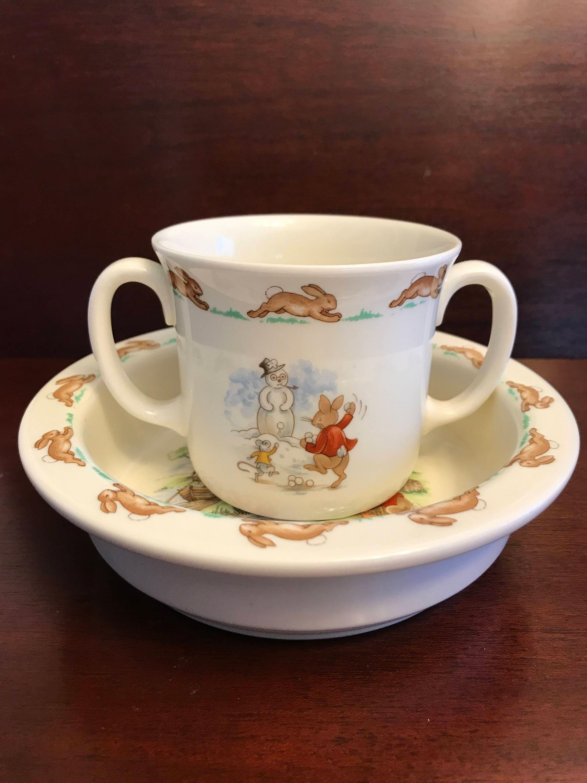 Royal Doulton Bunnykins Porcelain Child S Bowl And Double