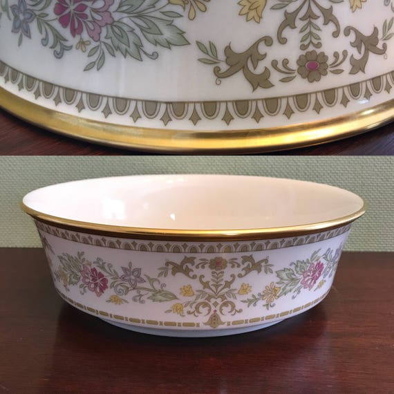 "Lenox Castle Garden China, 9"" round Vegetable Bowl, Luxury Dinnerware, MINT Condition, Replacement Lenox"