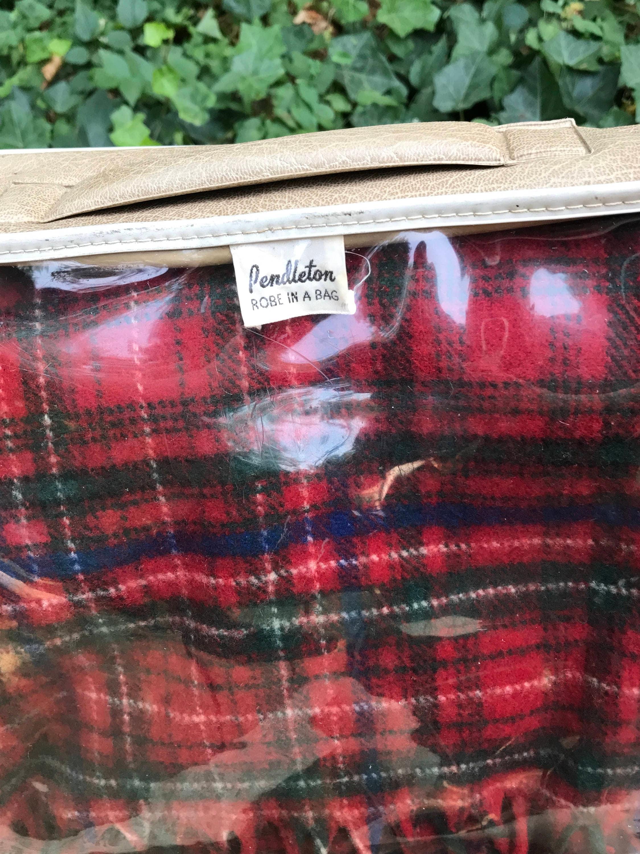 Vintage Pendleton Plaid Wool Blanket Pendleton Robe In A
