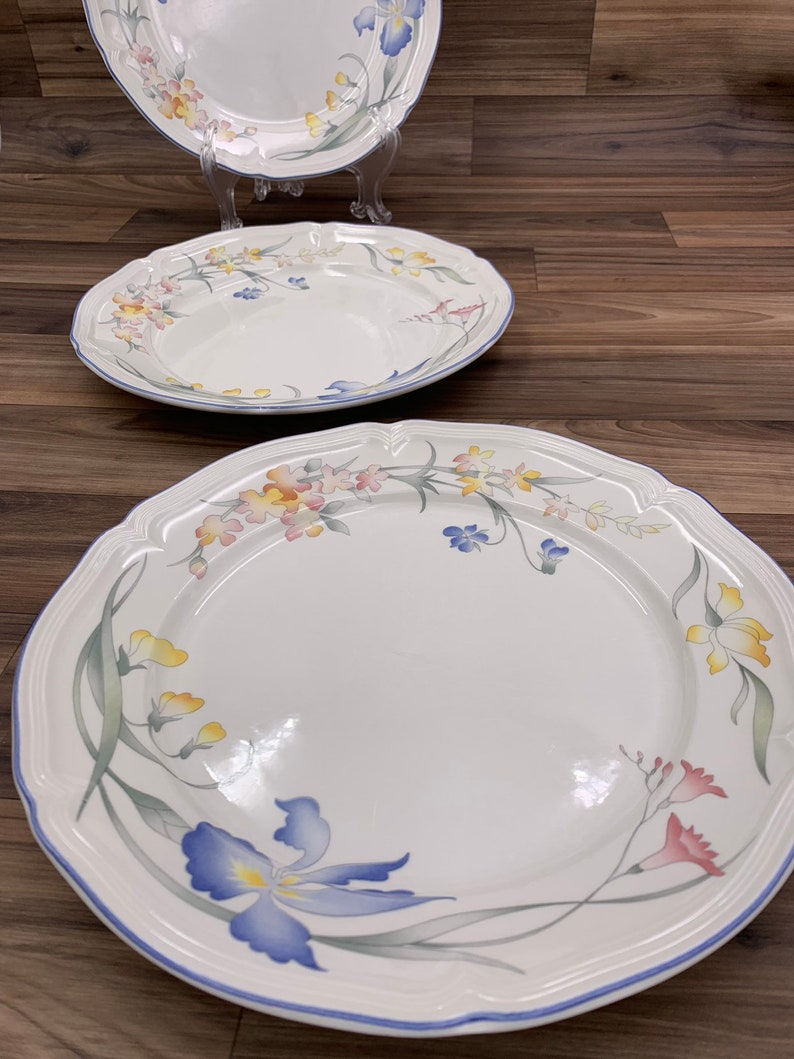 Vintage Bread and Butter Plates Villeroy and Boch Riviera set of 3