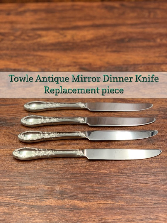 Vintage Towle Antique Mirror Silverplate New French Style dinner knife, Replacement by the Piece