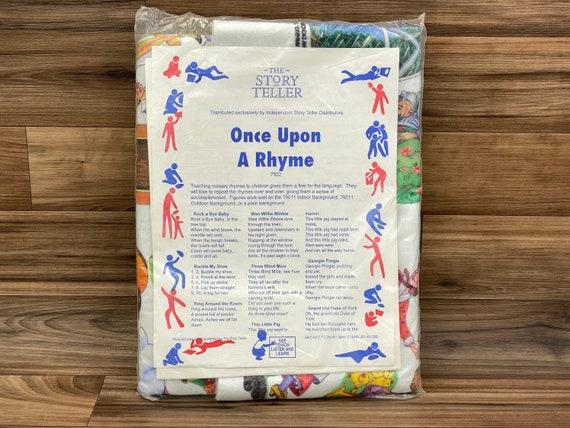 Vintage Nursery Rhymes Flannel graph set, The Story Teller, Once Upon a Rhyme, Felt Teaching Aid kit in original sealed package