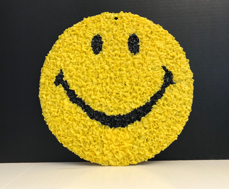 Smiley Face Melted Popcorn Sign, Vintage Pop Art 1980s Original Kage ...