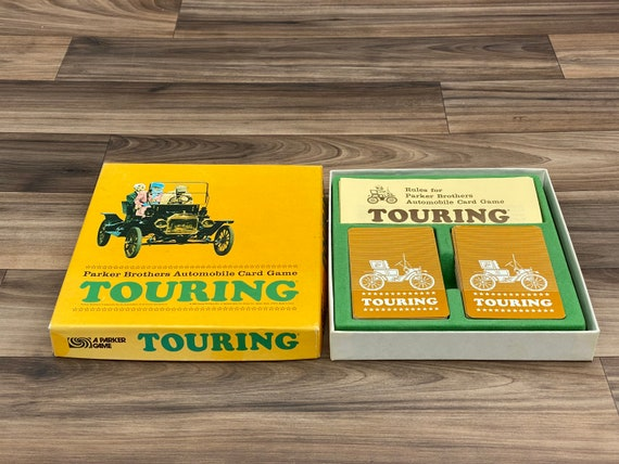 Vintage Touring Card game, Racing Game, 1960s Parker Brothers Family Game, Gift for car lover