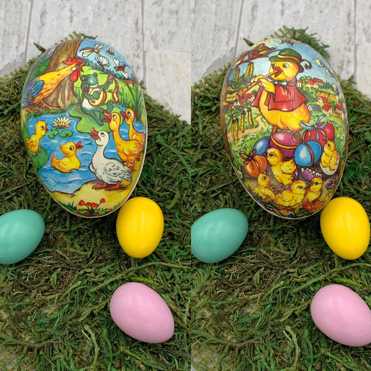 f7b8aa2db6 Vintage Paper Mache Easter Egg box