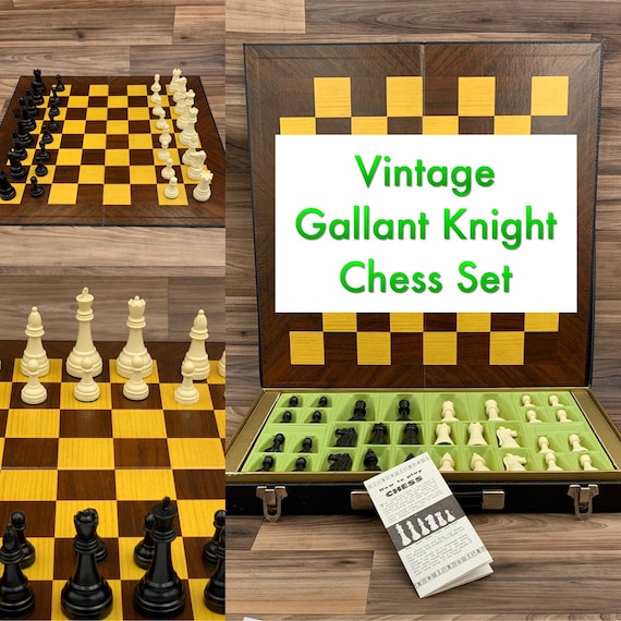 Vintage Chess Set Gallant Knight Chess Game, Collectors Chess set