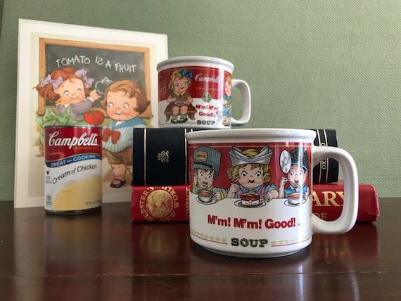 Campbells Kids Soup Mugs, Campbells soup collectible, Vintage Advertisement Mugs, collectible Campbells Soup, Grace Drayton Art