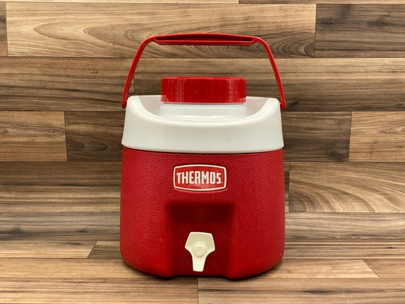 Vintage Water Jug, Picnic Thermos, Old Drink Cooler, Collectible Thermos, Camping Glamping Vintage Trailer