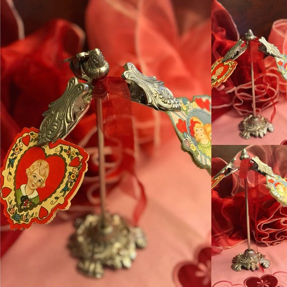 Victorian Card holder, Guest towel Holder, organizer Stand, ornate Jewelry holder, Business card holder, Hollywood Regency, gift
