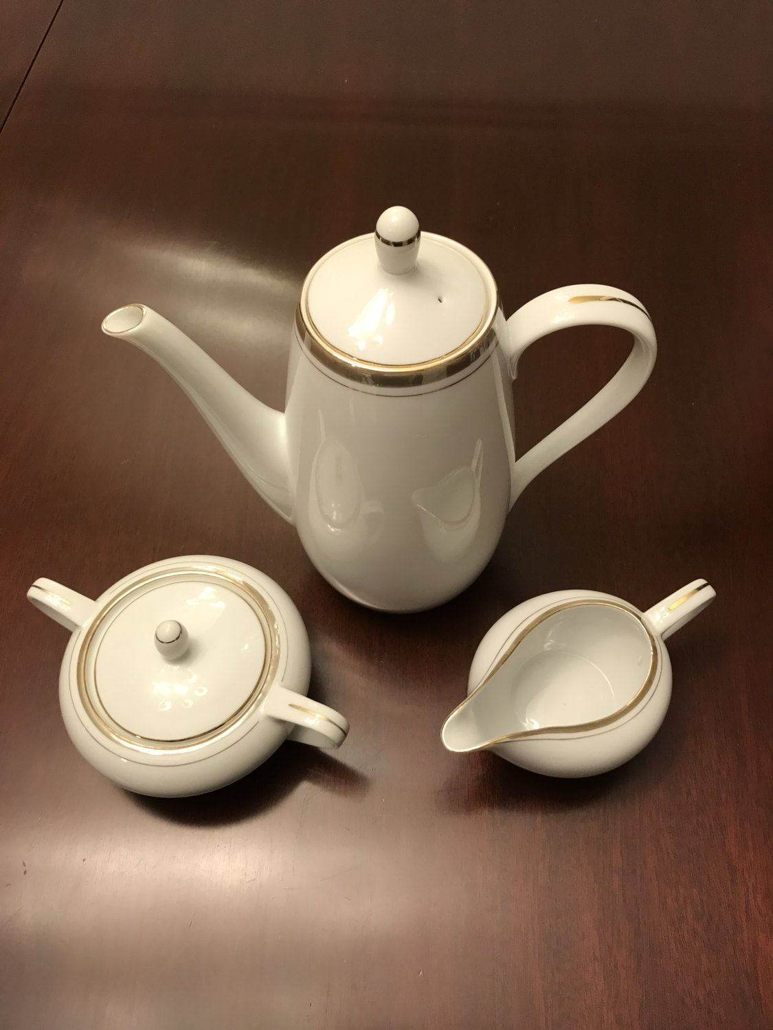 Vintage Tea Set, Coffee Service, Royalton Golden Elegance