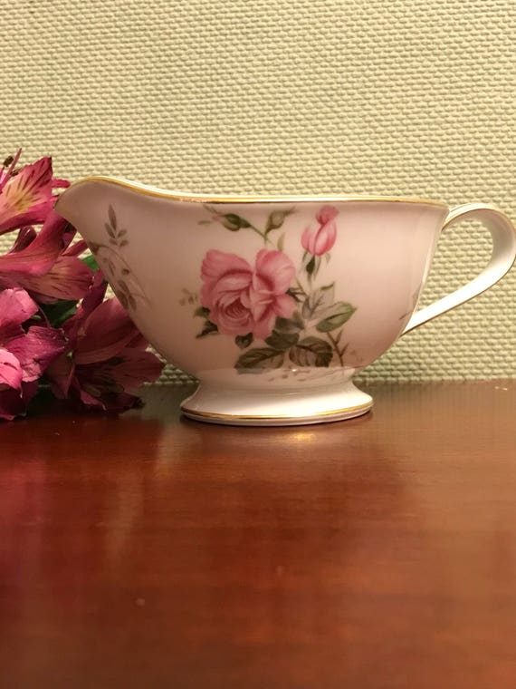 Vintage China Creamer, Noritake Rosa 5460 pattern Creamer, Noritake Rosa china, Holiday dishes, gift for her, Tea dishes