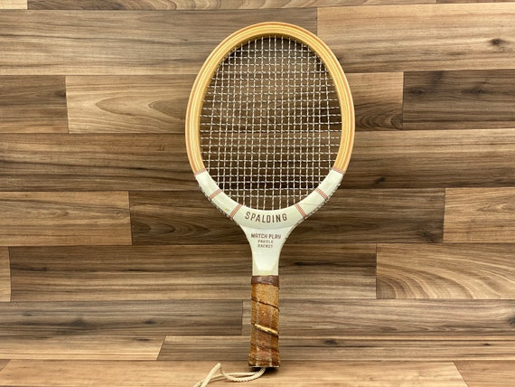 Vintage Spalding Match Play Paddle Racket, RacketBall Racket, Cabin Decor, sports equipment