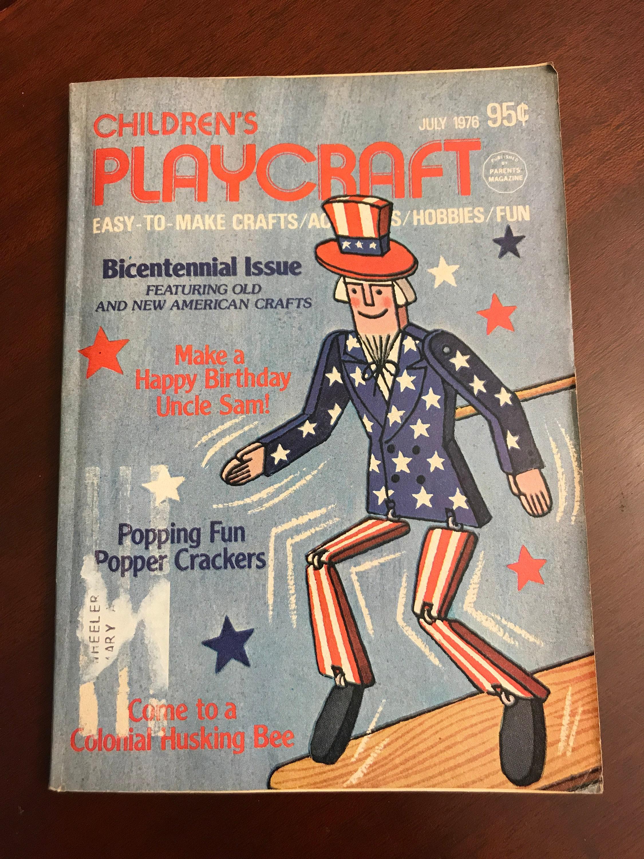 Vintage Childrens Playcraft Magazine Patriotic Bicentennial Issue
