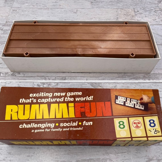 Vintage Rummikub game set, Vintage Rummy tile Game, Rummifun, Game Night, Gift for him