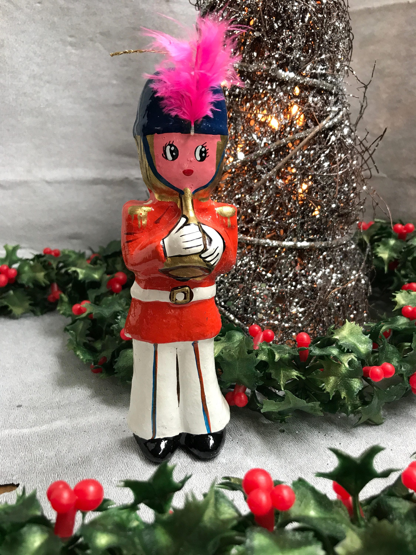Vintage English Bobby Christmas Ornaments, Painted ...