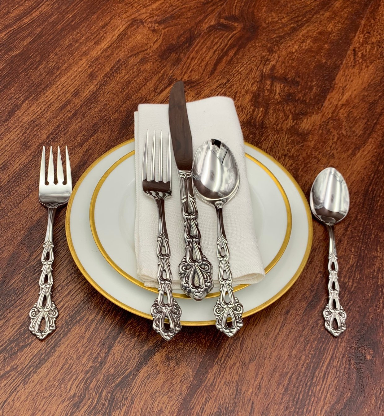 Silverware Wedding Gifts: RARE Oneida Stainless Flatware Set, Service For 12 Vintage