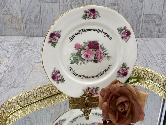 Rose Decorator plate, Duchess China Wall plate, dessert server Tea Party