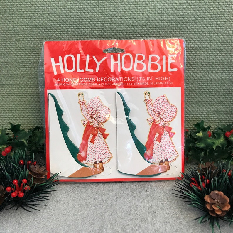 Holly Hobbie Christmas Party Decorations Vintage Honeycomb Etsy