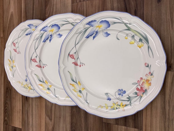 Vintage Salad Plates Villeroy and Boch Riviera, set of 3