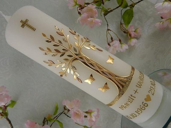 Kerze Zur Goldenen Hochzeit