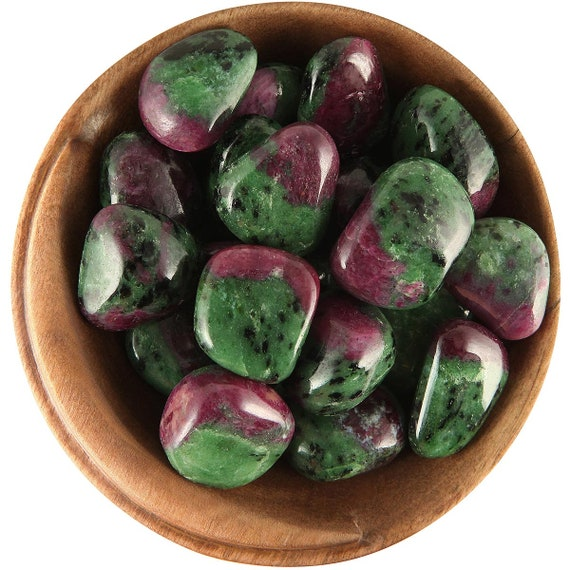 1 Inch Tumbled Stone Ethically Sourced 1 RUBY ZOISITE Gem-Quality