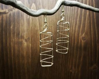 Wire Earrings, Dangle, Home Made, Original